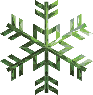 TenStickers. Emerald Green Snowflake. This wall decal consists of a snowflake covered in an emerald green colour.