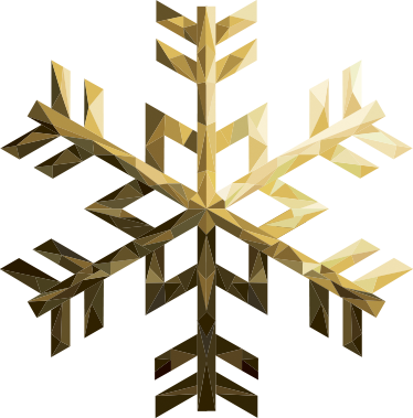 TenStickers. Golden Snowflake Wall Sticker. Bring some festive joy into your home, office or business this Christmas with this great piece of wall art. This winter wall sticker consists of a golden snowflake. Like all of our stickers, this design is available in many different sizes.