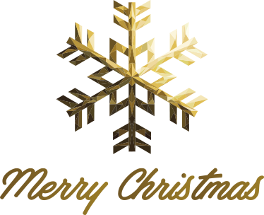 TenStickers. Golden Merry Christmas Snowflake Wall Sticker. A golden snowflake Wall Sticker with merry Christmas written below the snowflake. A beautiful wall decoration for the winter months.