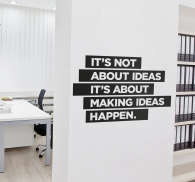 Making ideas happen wall sticker