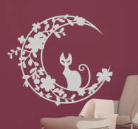 Moon Cat Wall Sticker