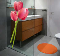 Wallstickers blomster tulipaner