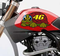 Sticker tortue Valentino Rossi