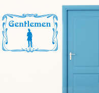 The Gents Toilet Sign Vintage Sticker