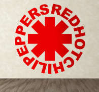Naklejka na ścianę Red Hot Chili Peppers