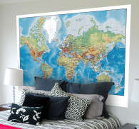 Vinilo decorativo world map