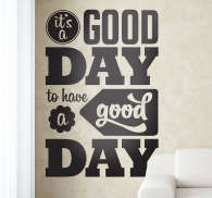 Good Day Quote Wall Sticker