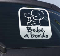Vinilo advertencia bebé coche