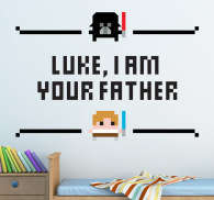 Sticker decorativo Luke your father