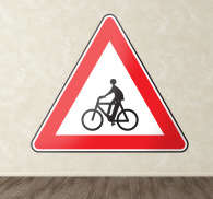 Cyclist Care Road Sign Sticker
