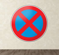 No Stopping Road Sign Sticker