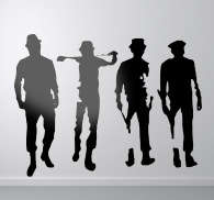 Clockwork Orange Silhouette Stickers