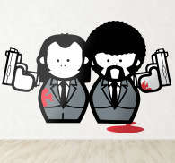 Sticker personnages Pulp Fiction
