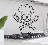Chef Kitchen Sticker