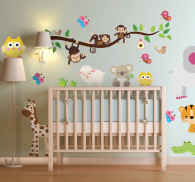 Sticker bambini sticker selva