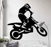 Sticker silhouette crossmotor