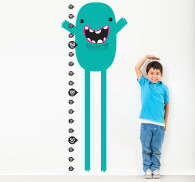 Sticker kinderkamer groeimeter monster