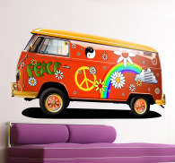 Hippie Van Wall Sticker