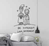 Love Different Wall Sticker