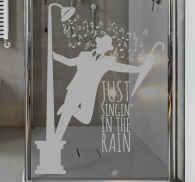 Sticker paroi douche Singing in the rain