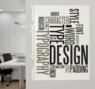 Text Designs Wall Sticker. Wall Color
