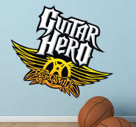 Sticker decorativo Guitar Hero Aerosmith