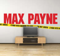 Sticker decorativo logo Max Payne