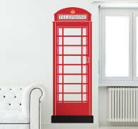 London's Red Phone Box Wall Sticker
