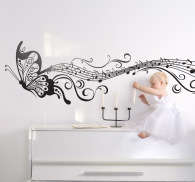 Musical Butterfly Wall Sticker