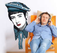 Sticker decorativo ritratto Boy George