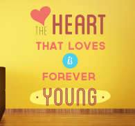 Young Heart Wall Sticker