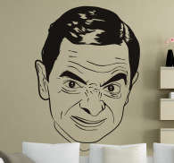 Sticker decorativo viso Mr Bean