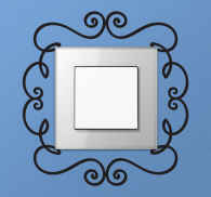 Ornament Switch Frame Wall Sticker