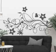 Sticker decorativo natura floreale
