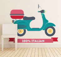 Vinilo decorativo moto italiana