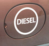 Sticker voiture essence diesel