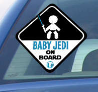 Naklejka baby jedi on board
