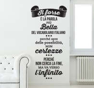 Sticker decorativo frase Giacomo Leopardi