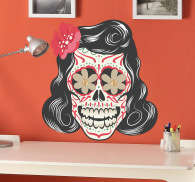 Sticker decorativo teschio stile 50s