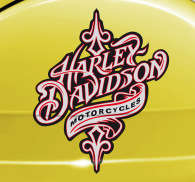 Sticker decorativo logo Harley vintage