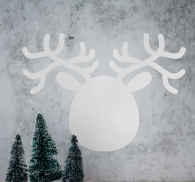 Reindeer Face Silhouette Blackboard Sticker