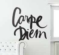 Carpe Diem Calligraphy Wall Sticker