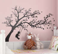 Kids Swing Tree Wall Sticker