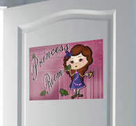 Sticker enfant dessin princess room
