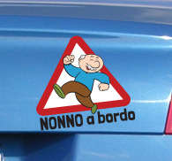 Sticker decorativo nonno a bordo