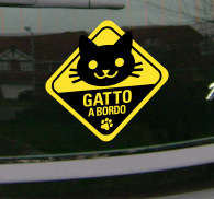 Sticker decorativo gatto a bordo
