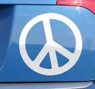 Peace Symbol Decorative Decal
