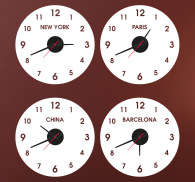 Sticker horloge pays