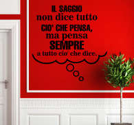 Sticker decorativo frase Aristotele