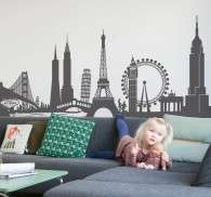 World Monuments Wall Sticker